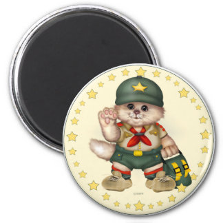 SCOUT CAT LOVE ROUND Magnet  2¼ Inch