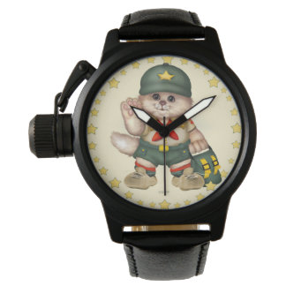SCOUT CAT Men's Crown Protector Black Leather S Wristwatch