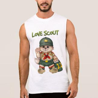 SCOUT CAT Men's Ultra Cotton Sleeveless T-Shirt