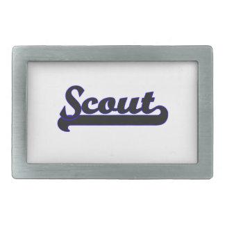 Scout Classic Job Design Rectangular Belt Buckles