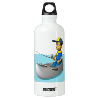 Scout Fishing 2 Aluminum Water Bottle