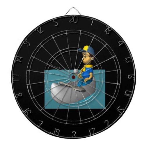 Scout Fishing 2 Dart Board