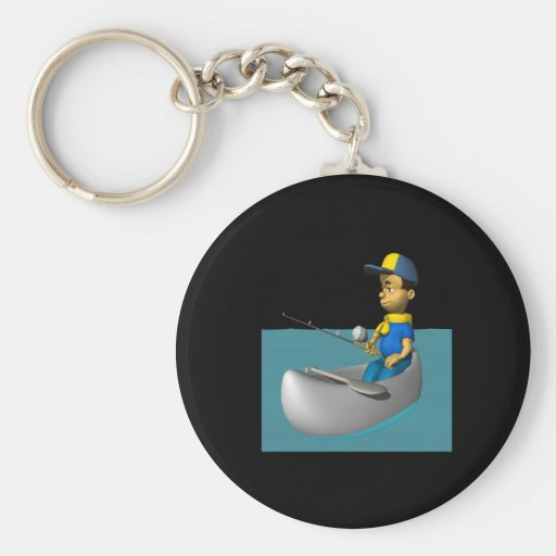Scout Fishing 2 Key Chain