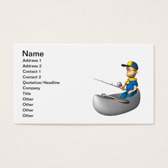 Scout Fishing Business Card