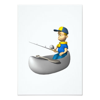 Scout Fishing 5x7 Paper Invitation Card