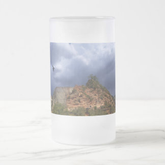 Scout Lookout Zion National Park Utah Frosted Glass Beer Mug