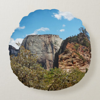 Scout Lookout Zion National Park Utah Round Pillow