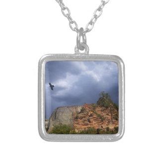 Scout Lookout Zion National Park-Utah Square Pendant Necklace