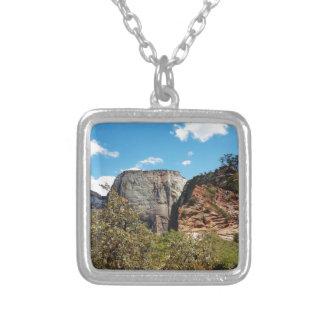 Scout Lookout Zion National Park Utah Square Pendant Necklace