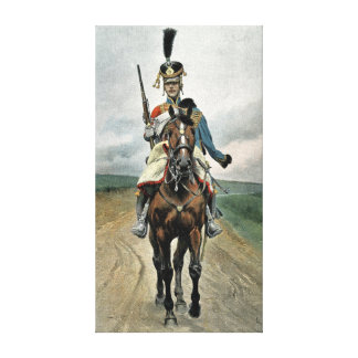 Scout of the 9th Regiment of Hussars Stretched Canvas Print