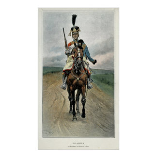 Scout of the 9th Regiment of Hussars Poster