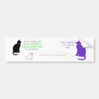 Scout the Inventive Cat Bumper Sticker