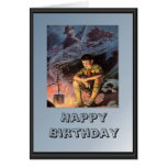 Scouting campfire greeting card