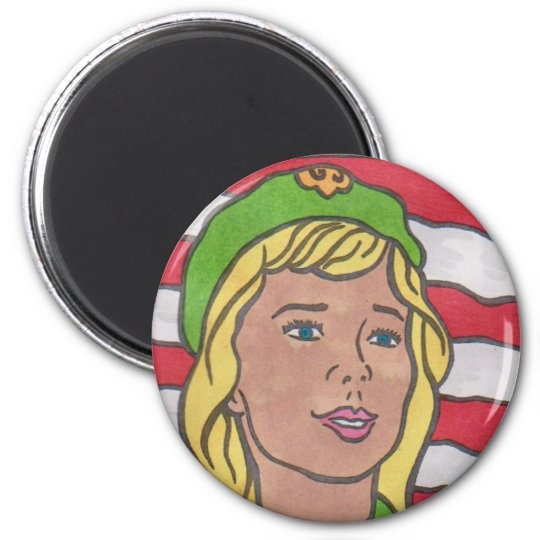 SCOUTING CENTENNIAL ART by David Smith MAGANET 01 2 Inch Round Magnet
