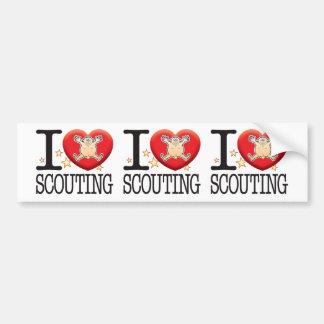 Scouting Love Man Bumper Sticker