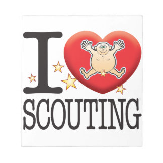 Scouting Love Man Notepad