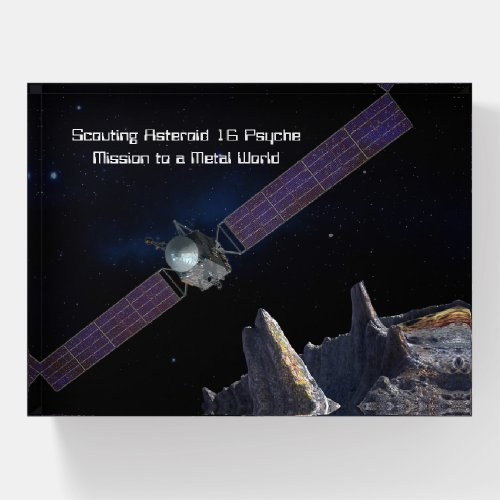 Scouting Mission to Asteroid 16 Psyche Paperweight