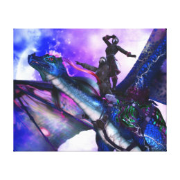Scouting the Skies Wrapped Canvas Print