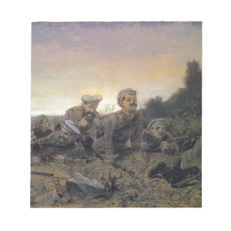 Scouts at Sevastopol by Vasily Perov Note Pad
