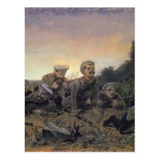 Scouts at Sevastopol by Vasily Perov Postcard