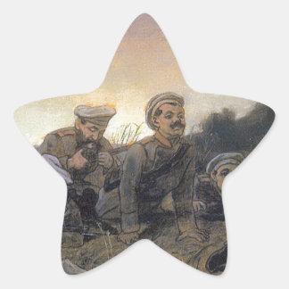 Scouts at Sevastopol by Vasily Perov Star Sticker
