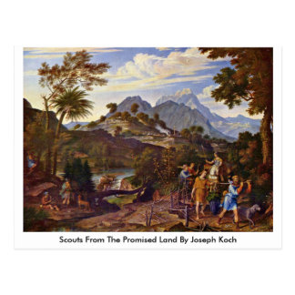 Scouts From The Promised Land By Joseph Koch Postcard
