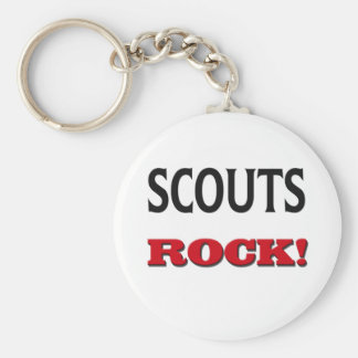 Scouts Rock Basic Round Button Keychain