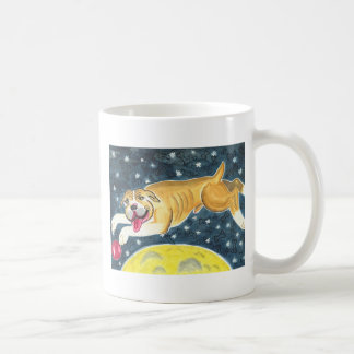 Scouty jumps over the moon coffee mug