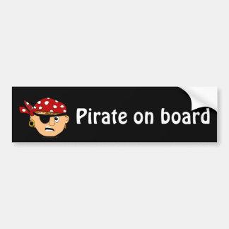 Scowling Boy Cute Pirate Stuff Customizable Car Bumper Sticker