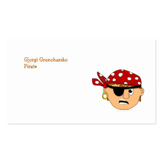Scowling Boy Cute Pirate Stuff Customizable Double-Sided Standard Business Cards (Pack Of 100)