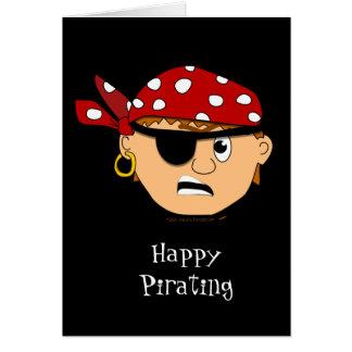 Scowling Boy Cute Pirate Stuff Customizable Card