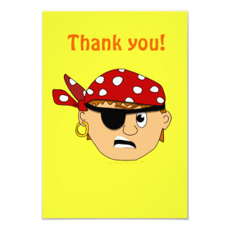Scowling Boy Cute Pirate Stuff Customizable Card