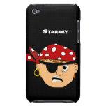 Scowling Boy Cute Pirate Stuff Customizable Barely There iPod Case