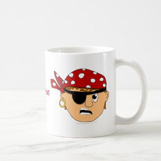 Scowling Boy Cute Pirate Stuff Customizable Coffee Mug