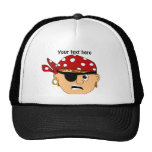Scowling Boy Cute Pirate Stuff Customizable Mesh Hat