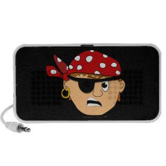 Scowling Boy Cute Pirate Stuff Customizable Mini Speakers