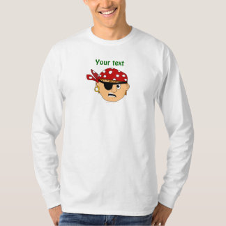 Scowling Boy Cute Pirate Stuff Customizable T-Shirt