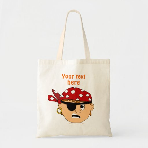 Scowling Boy Cute Pirate Stuff Customizable Tote Bag