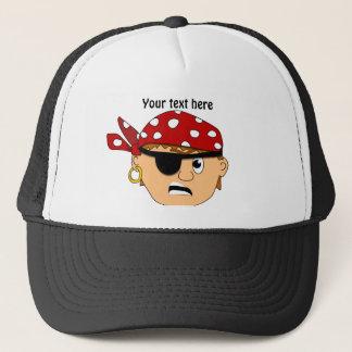 Scowling Boy Cute Pirate Stuff Customizable Trucker Hat