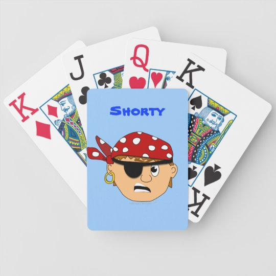 Scowling Pirate Boy Personalized Playing Cards