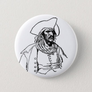 Scowling Pirate Button