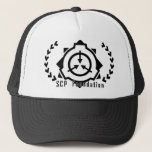 """SCP Foundation cap: symple-B [SCP Foundation] Trucker Hat<br><div class=""""desc"""">This item is SCP Foundation&#39;s fan goods. (http://www.scp-wiki.net/) simply,  it is the hat where logograph enters largely with black. Please usually even in errand.   