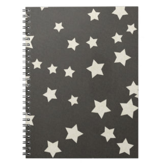 SCP SPACE STARS CARTOON BLACK WHITE BACKGROUNDS PA NOTEBOOK