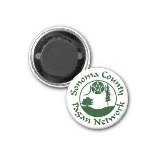 SCPN Circle Logo - Round Magnet - 1 Green