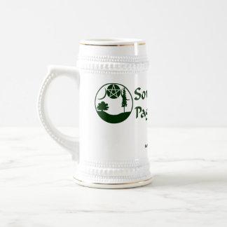 SCPN Logo - White & Silver Beer Stein