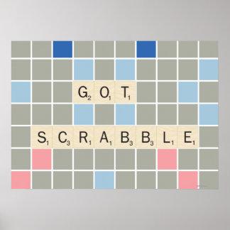 Scrabble conseguido póster