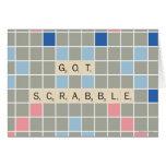 Scrabble conseguido tarjeta de felicitación