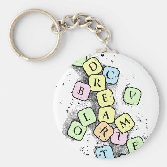 Scrabble letters keychain