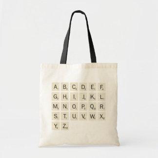 Scrabble personalizado bolsa de mano