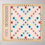 Scrabble Vintage Gamboard Poster